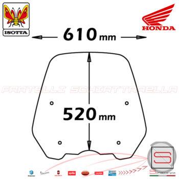 SC2697 Lastra Parabrezza Paravento Isotta Tipo Originale Honda SH 125-150 Ie Dal 2012
