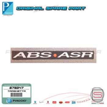 675047 Targhetta ABS-ASR Beverly