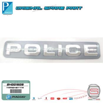 2H001509 Targhetta Police Piccola