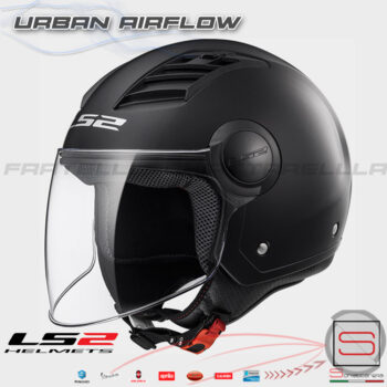 Casco Demi Jet LS2 OF562 Airflow L Matt Black Nero Opac