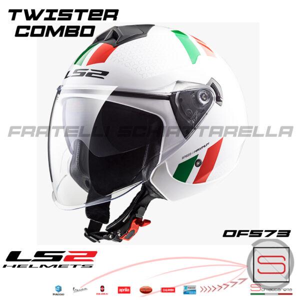 Casco Demi Jet Ls2 Twister Combo Italia