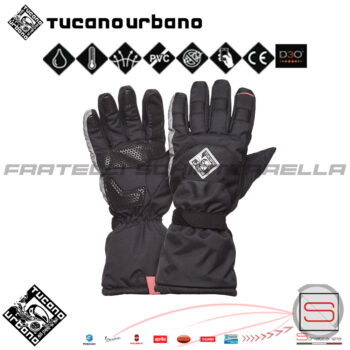 9928HU Guanto Moto Scooter Antipioggia Touch Screen Tucano Urbano New Super Insulator 2 Antivento Traspirante Outlet 9928HU