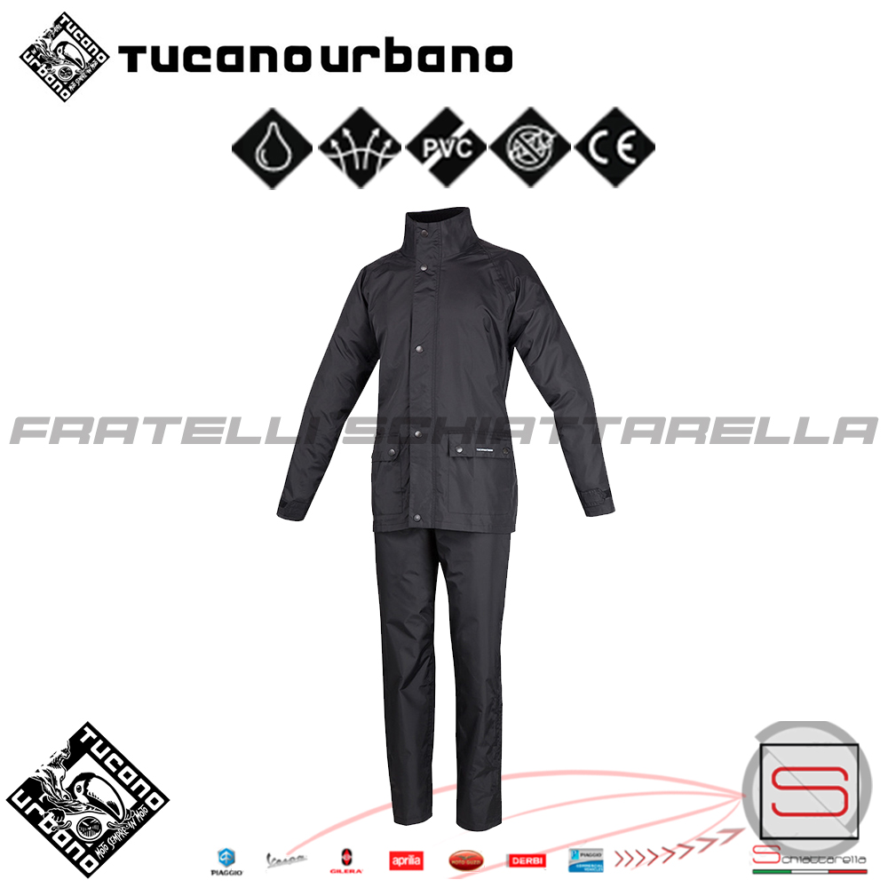 Giacca Antipioggia Completo Urbano Pantalone Moto Diluvio Tucano Set Aq5qwH