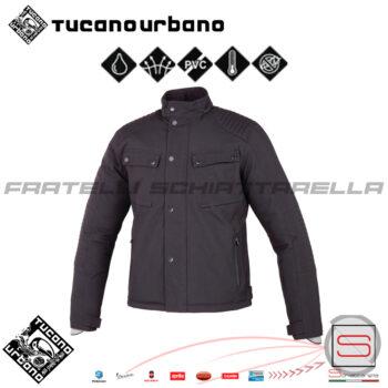 Giacca Giubbotto Uomo Moto Antipioggia Traspirante Tucano Bibip Nero 8115MF049