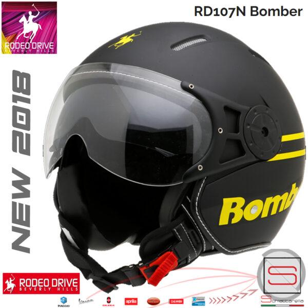 Casco Rodeo Drive Demi Jet RD107N Nero Giallo Bomber