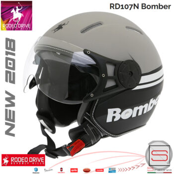 Casco-Rodeo-Drive-RD107-Bomber-Titanio_Nero_Bianco