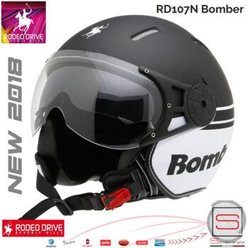 Casco-Rodeo-Drive-RD107N-Bomber-Nero_Bianco