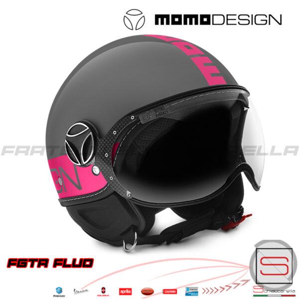 1001004028 Casco Momo Design FGTR Fluo Grey-Fuxia