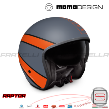 1014050004 Casco Momo Design Raptor Arrow Grey-Orange