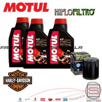 Kit44 Filtro Cartuccia 3Lt Olio Motore Motul Harley Davidson 883 1200 FXSTS FLHTC