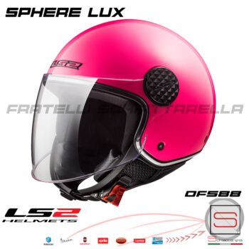 Casco Demi Jet LS2 OF558 Sphere Lux Gloss Pink 305585014