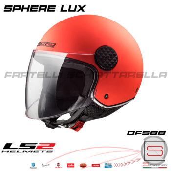 Casco Demi Jet LS2 OF558 Sphere Lux Matt Orange 305585051