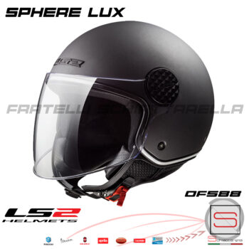 Casco Demi Jet LS2 OF558 Sphere Lux Matt Titanium