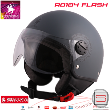 Casco Rodeo Drive Demi Jet RD104 Flash Antracite Opaco