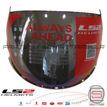Visiera Lunga Specchio Rainbow Casco Demi Jet LS2 Airflow OF562 Sphere Lux OF558 800562VI23 800562VI24