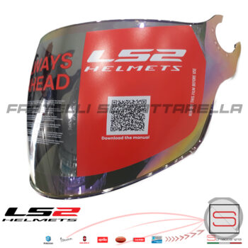 Visiera Lunga Specchio Rainbow Casco Demi Jet LS2 Airflow OF562 Sphere Lux OF558 800562VI23 800562VI24