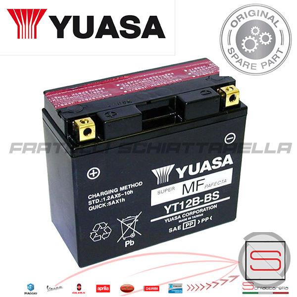 Batteria Accumulatore Con Acido Yuasa YT12B-BS Aprilia E01130