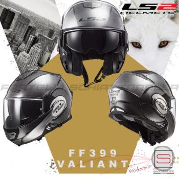 Casco Helmet Modulare Apribile LS2 FF399 Valiant Jeans Titanium 503991354 Line Bmw Motorrad