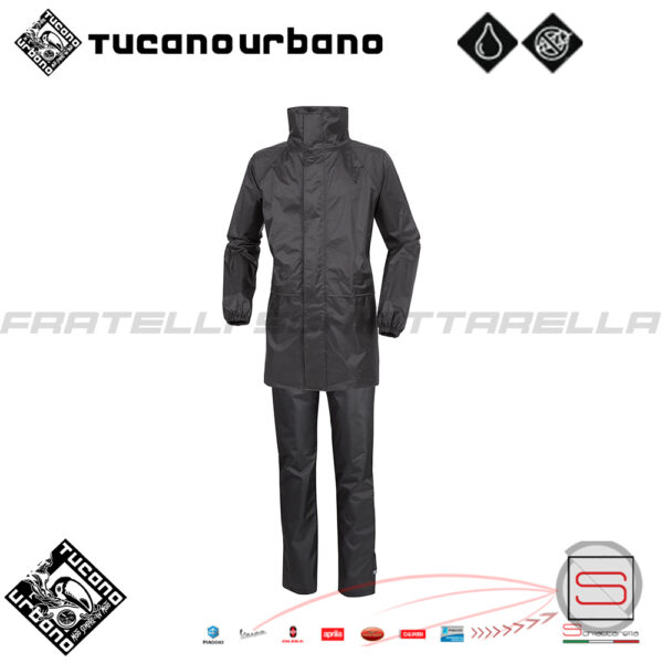 Completo Antipioggia Giacca Pantalone Moto Tucano Urbano Set Diluvio Start 567