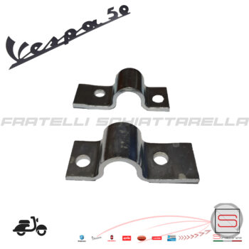 Coppia Piastra Foro 16 mm Cavalletto Vespa 50 R 6186