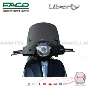 Cupolino Fumè Parabrezza Basso Faco Piaggio Liberty Rst Iget 50-125-150 28640
