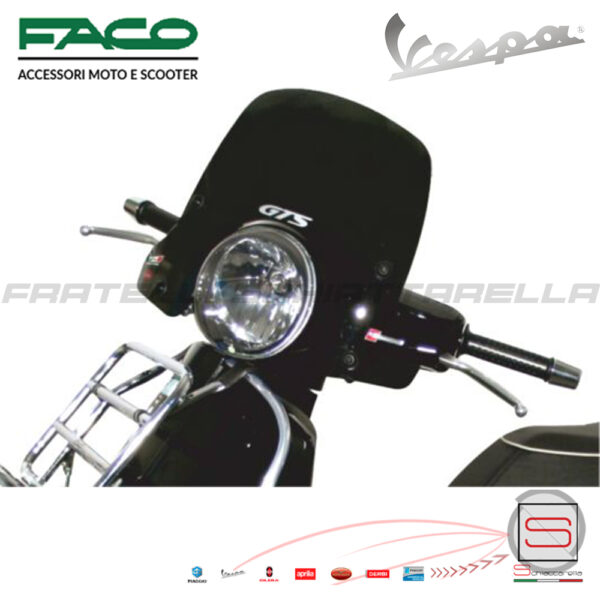 Cupolino Fumè Parabrezza Basso Faco Piaggio Vespa GTS IE 125 250 300 29000 125ie 205ie 300ie