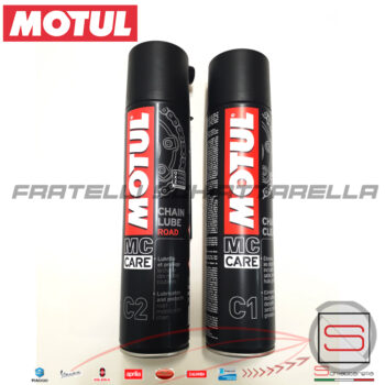 Pulitore Sgrassante Spray Catena 400 ML Motul C1 Chain Clean MC Care Moto Kart Atv QuadLubrificante Grasso Spray Catena 400 ML Motul Chain Lube Road C2 102980