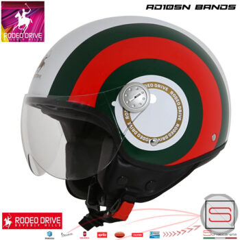 RD105N Bands Bianco Casco Rodeo Drive Demi Jet