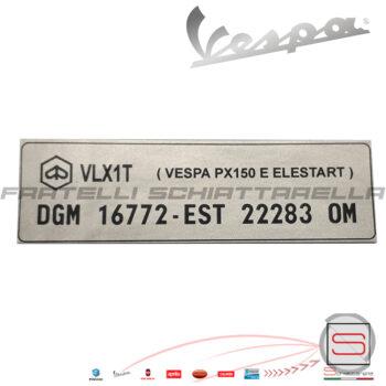 Targhetta Adesivo Decalco DGM Vespa Px 150 E Elestart