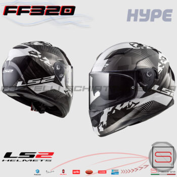 Casco Helmet Integrale LS2 FF320 Stream Evo Hype White Black Titanium 103204508 10320 45 08 moto sport road touring scooter