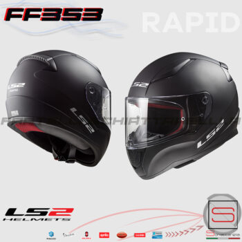 Casco Integrale LS2 FF353 Rapid Solid Matt Black Road Touring 103531011 10353 10 11 nero opaco moto