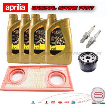 Kit-Tagliando-Candele-Filtro-Olio-Aria-Originale-Aprilia-Dorsoduro-Shiver-Gt-750-851575-829981-CR7EKB-N3821071-82960R-O115991-115991-Lubrificante-Eni-15w50-1