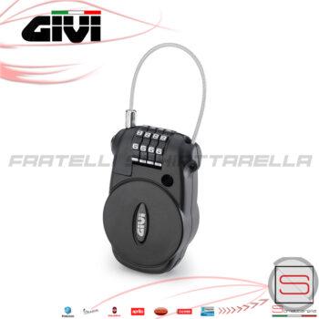 S220 Lucchetto Antifurto casco cavo retraibile con combinazione Givi