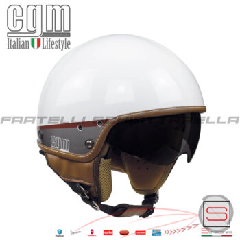 Casco Jet Moto Visierino Parasole CGM Granada Bianco 105G-DAV-14 105GDAV14
