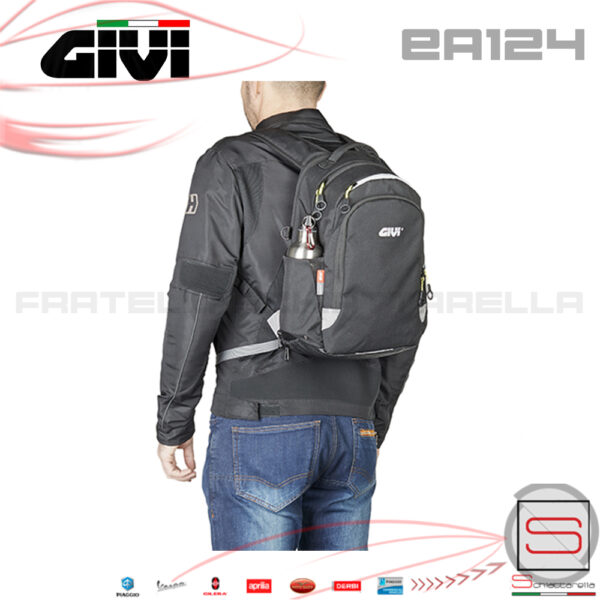 Borsa Zaino Portacasco Moto Espandibile Givi Antipioggia 15Lt Bmw Moto Vespa scooter bauletto borsone zaino enduro touring scooter valigia ea124 ea 124