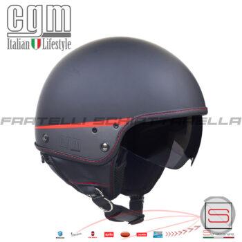 Casco Jet Moto Visierino Parasole CGM Granada Nero Opaco 105G-DAV-01 105GDAV01