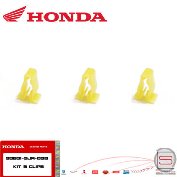 Kit 3 Clip Fermo Carenatura Carene Originale Honda Sh 125 150 dal 2017 90601-SJA-003 90601SJA003 fermi