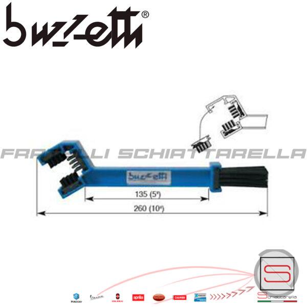 Spazzola Pulisci Catena Moto Originale Buzzetti strumento attrezzo bici motocicletta manutenzione spazzolino 4998