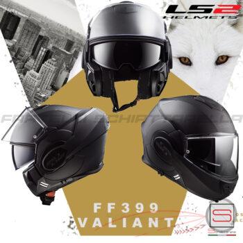 Casco Helmet Modulare Apribile LS2 FF399 Valiant Noir Matt Black TG. S Bmw Motorrad touring road enduro nero opaco