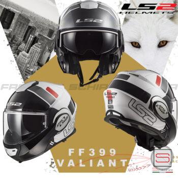 Casco Helmet Modulare Apribile LS2 FF399 Valiant Prox White Red Bmw Motorrad touring road enduro nero opaco 503991411 503991411S (2)