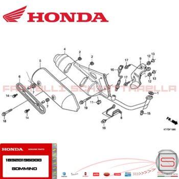 18320196000 Tavola Catalogo Gommino Protezione Marmitta Honda Sh
