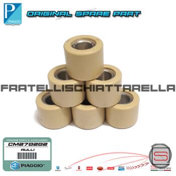 Kit 6 Rulli 19×15,5 Gr 6,4 Variatore Piaggio Liberty Iget Vespa Primavera Sprint CM270205 CM270202 CM270204