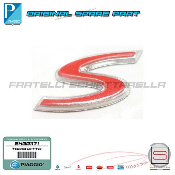 Targhetta Adesiva Decalco Laterale Originale Piaggio Liberty IGET 4T 50 125 150 2H001171