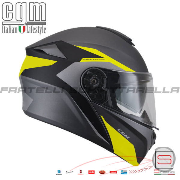 Casco Helmet Modulare Apribile CGM 508G Dresda Giallo Fluo Opaco 508G-ALV-19 508GALV19 508G ALV 19