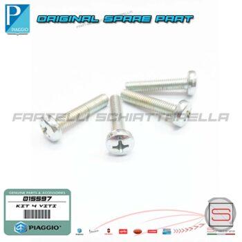 Kit 4 Viti 5X25 Coperchio Manubrio Originale Piaggio Vespa Zip Liberty Nrg X9 AP8515051 015597 000603 012494 Vite t.b.i.c. Xl 5-25