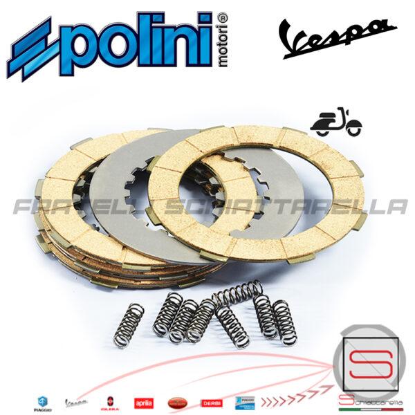 2300022 Serie Dischi Frizione Vespa PX PE 125 150 200 8 MOLLE