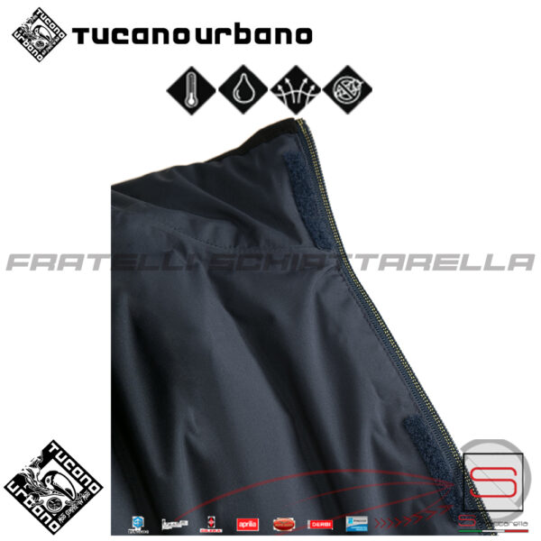Giacca Moto Scooter Antipioggia Traspirante Antivento Tucano Double Way Blu 8169MF171 8169 MF 171