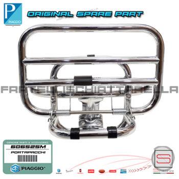 Portapacchi Posteriore Cromato con Ribaltina Originale Piaggio Vespa GTS Gtv 125ie-250ie-300ie 01440C 01440C 606525M 605665M