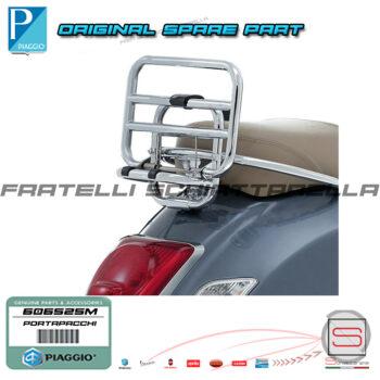 Portapacchi Posteriore Cromato con Ribaltina Originale Piaggio Vespa GTS Gtv 125ie-250ie-300ie 01440C 01440C 606525M 605665M 3