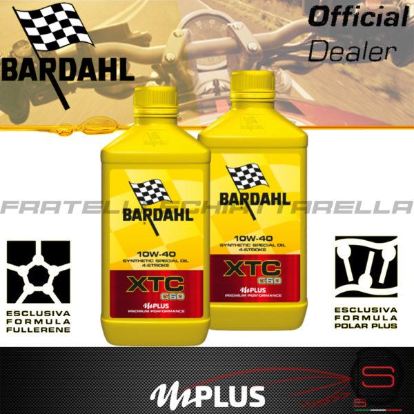 2 litri Olio Moto Bardahl XTC C60 10W40 4T OFF ROAD 4 Tempi Sintetico Fullerene